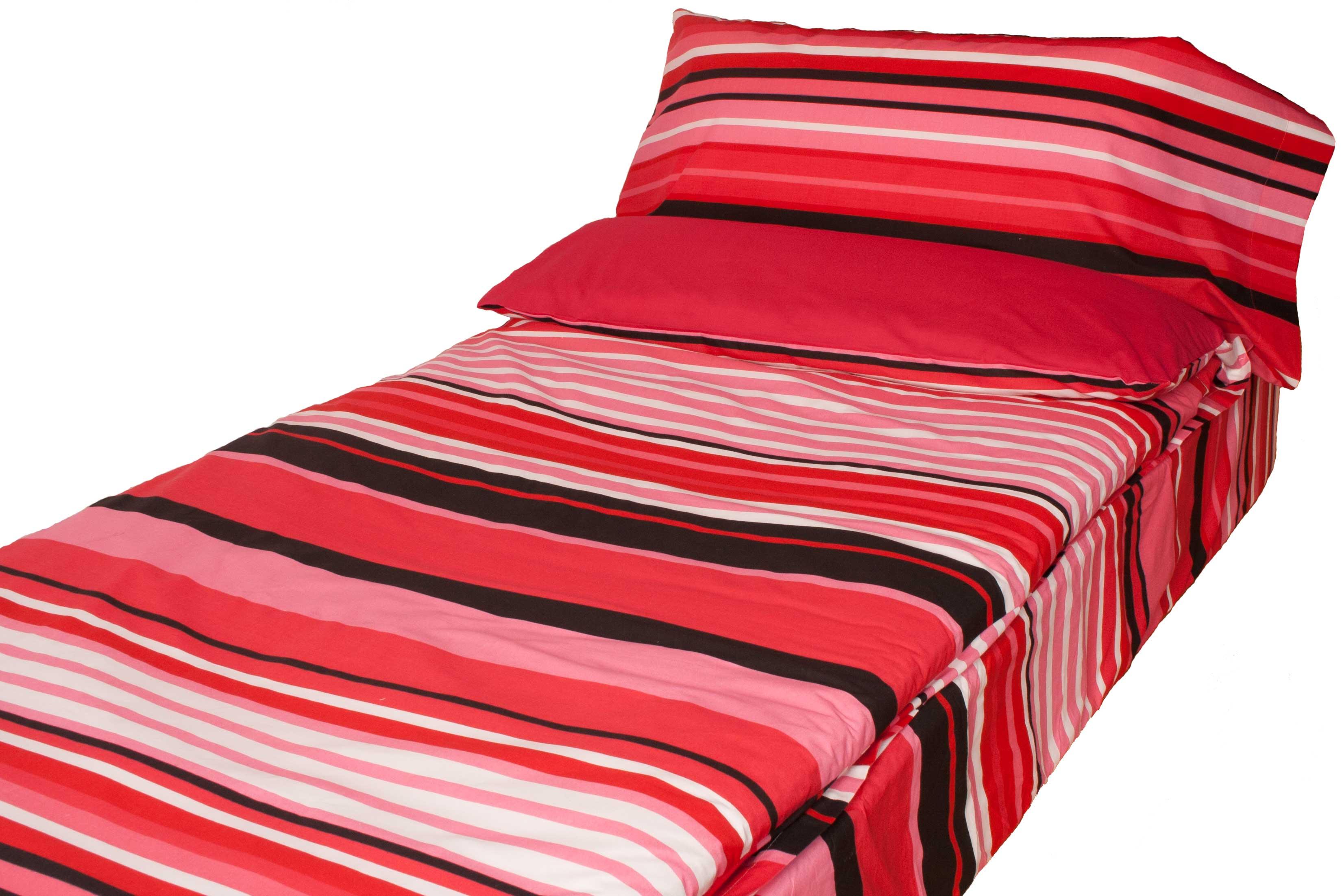 Saco Estampado NAPOLES: Rayas Rosas Rojas